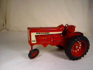 Metal Toy Tractors >> Tractor Toy Red Vintage Metal Framall