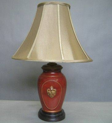 Tablelamp Table Lamp Red Base With Black
