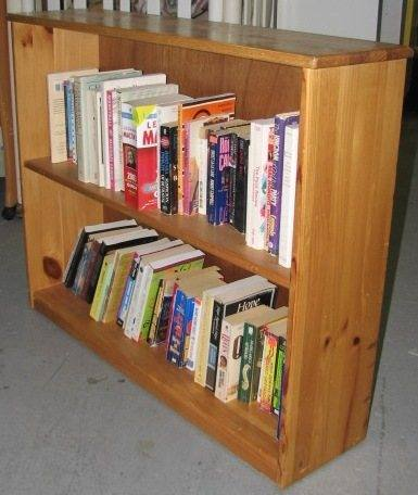Low Bookcase Natural Pine