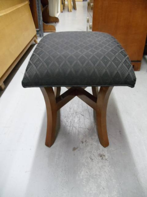 Groovy Vanity Stool Padded Upholstered Cross Squirreltailoven Fun Painted Chair Ideas Images Squirreltailovenorg