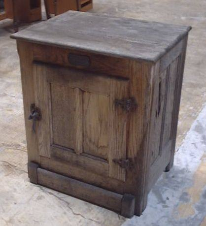 Cabinet: Reproduction Antique Oak Ice Box U2026