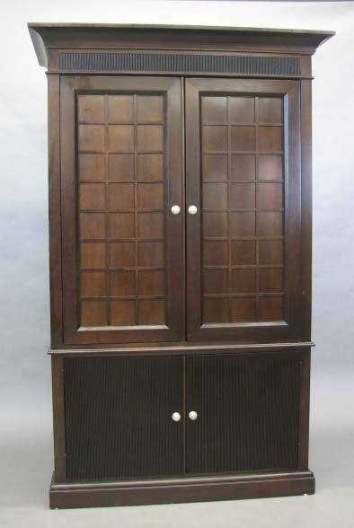 Entertainment Armoire Dark Wood
