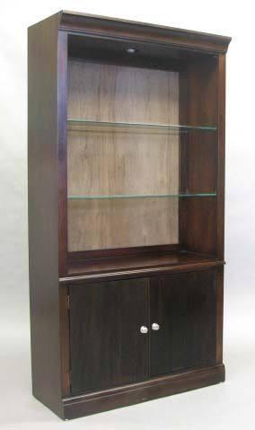 Tall Bookcase Dark Cherry W Back Insert