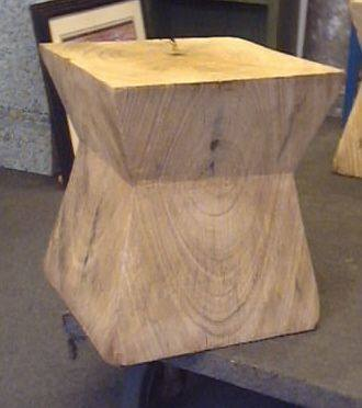 Chow Table: Natural Wood Stomp Bleached