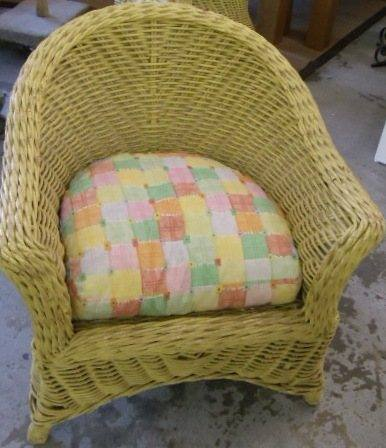 Superieur Wicker Chair: Yellow Wicker Chair One U2026
