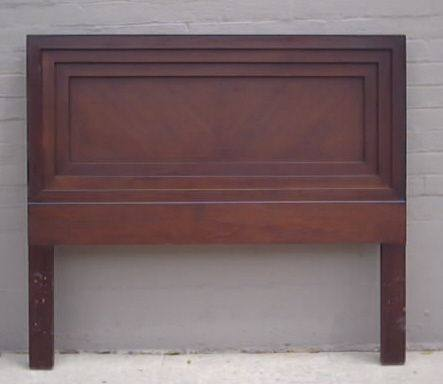 Queen Bed Mahogany Dark Wood Headboard