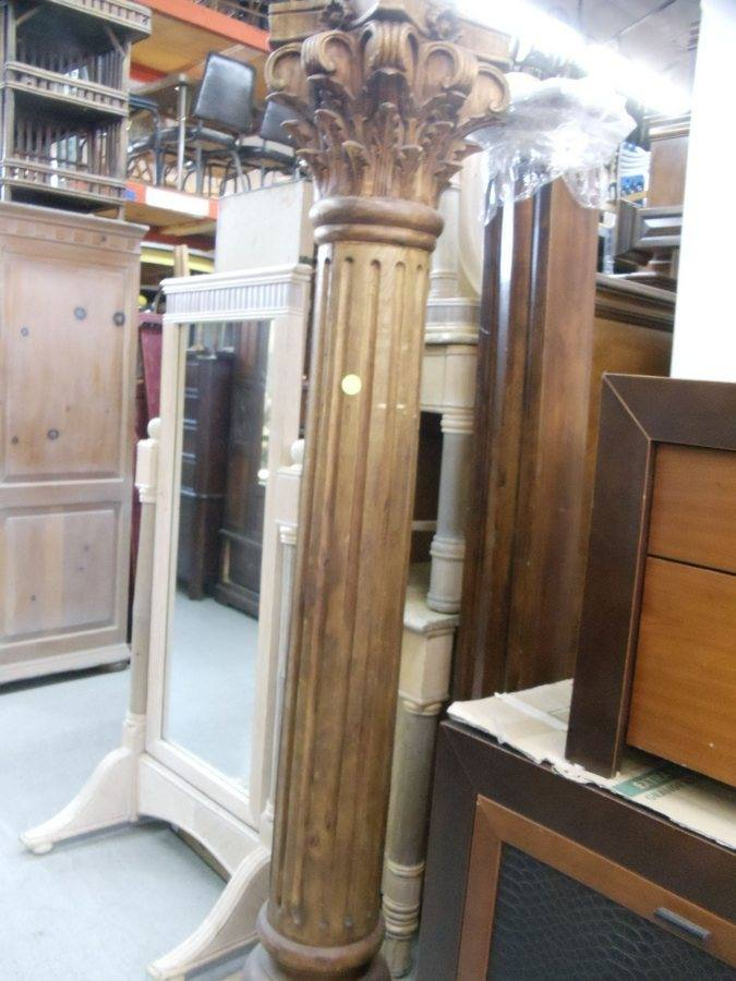 Column: Fluted Wooden Corinthian Column