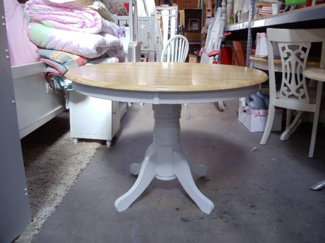 Kitchen Table: Natural Parquet Round ...