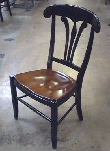 Side Chair Stylized Fleur De Lys Splat