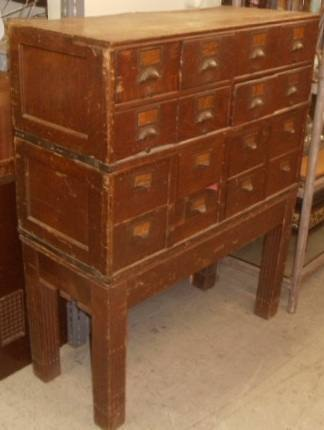 quality design 3b779 cf8d4 File Cabinet: Antique File Cabinet-Dark ...