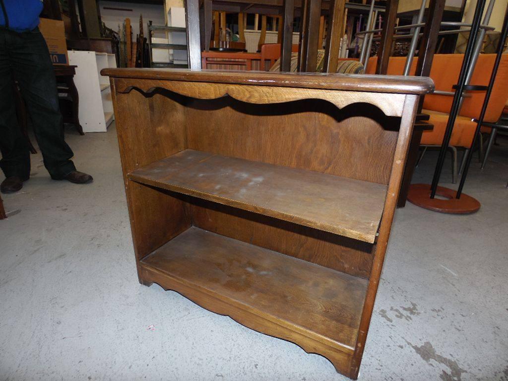 Low Bookcase Dark Wood Pntd Bookcase W 1 Psw