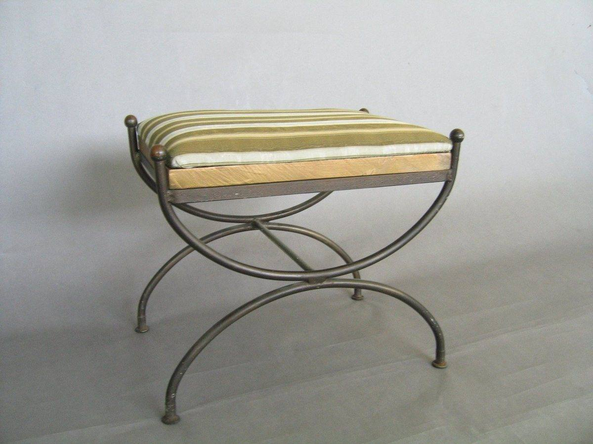 Upholstered Bench Classical X Leg Base Psw