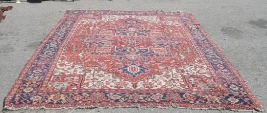 Rug Oriental Rug Red Blue Psw