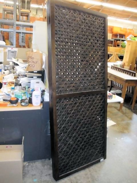 Room Divider Screen 3 Panel Dark Wood