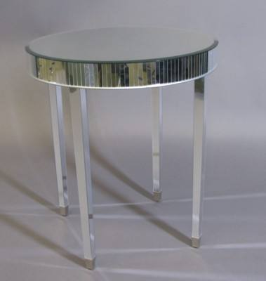 Side Table Mirrored Round Psw
