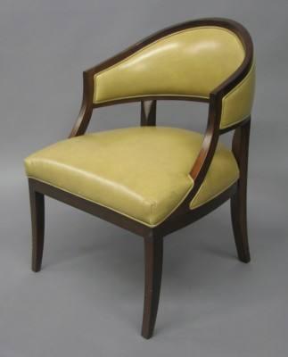 Office Chair Barrel Cherry Wood