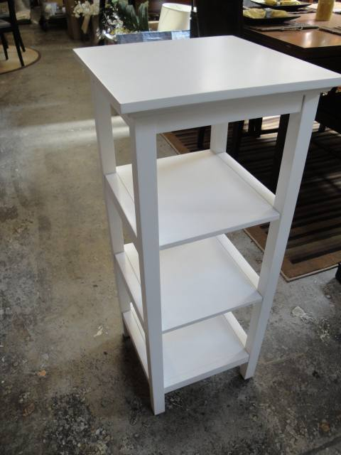 Plant Stand White 3 Tier Bottom