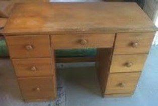 Student Desk Desk Natural Pine