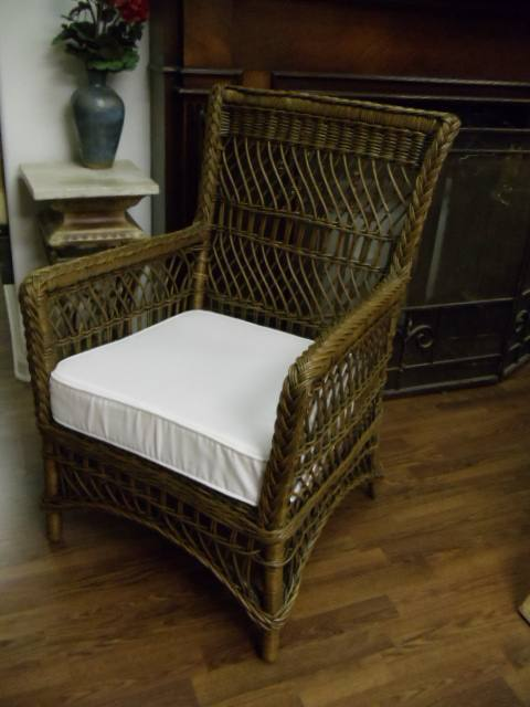 Wicker Chair: Armchair Brown Solid Wicker ... $82.50 · Weekly Rate
