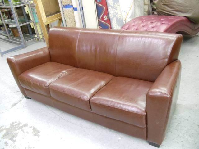 Awesome Sofa Modern Sofa Brown Leather 3 Seater Creativecarmelina Interior Chair Design Creativecarmelinacom