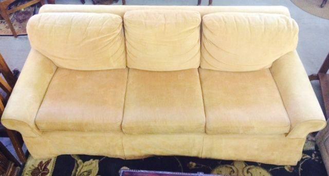 Sleeper Sofa Tan Chenille Tweed